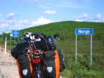 Radreise zum Nordkap: An der Grenze zu Norwegen